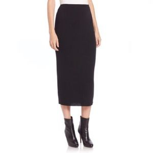 NWT Eileen Fisher Black Icon Wool Pencil Skirt